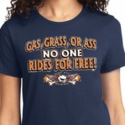 Gas Grass Or Ass Ladies Biker Shirts