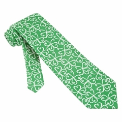 Get Lucky Green Microfiber Tie Necktie – Men's Holiday Neck Tie