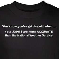 Getting Old T-Shirt Joints More Accurate Than Weather Black Tee
