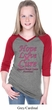 Girls Breast Cancer Tee Hope Love Cure V-neck Raglan