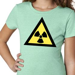 Girls Fallout Shirt Radioactive Triangle Tee T-Shirt