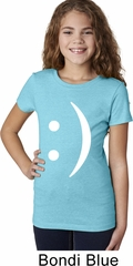 Girls Funny Shirt Smiley Chat Face Tee T-Shirt
