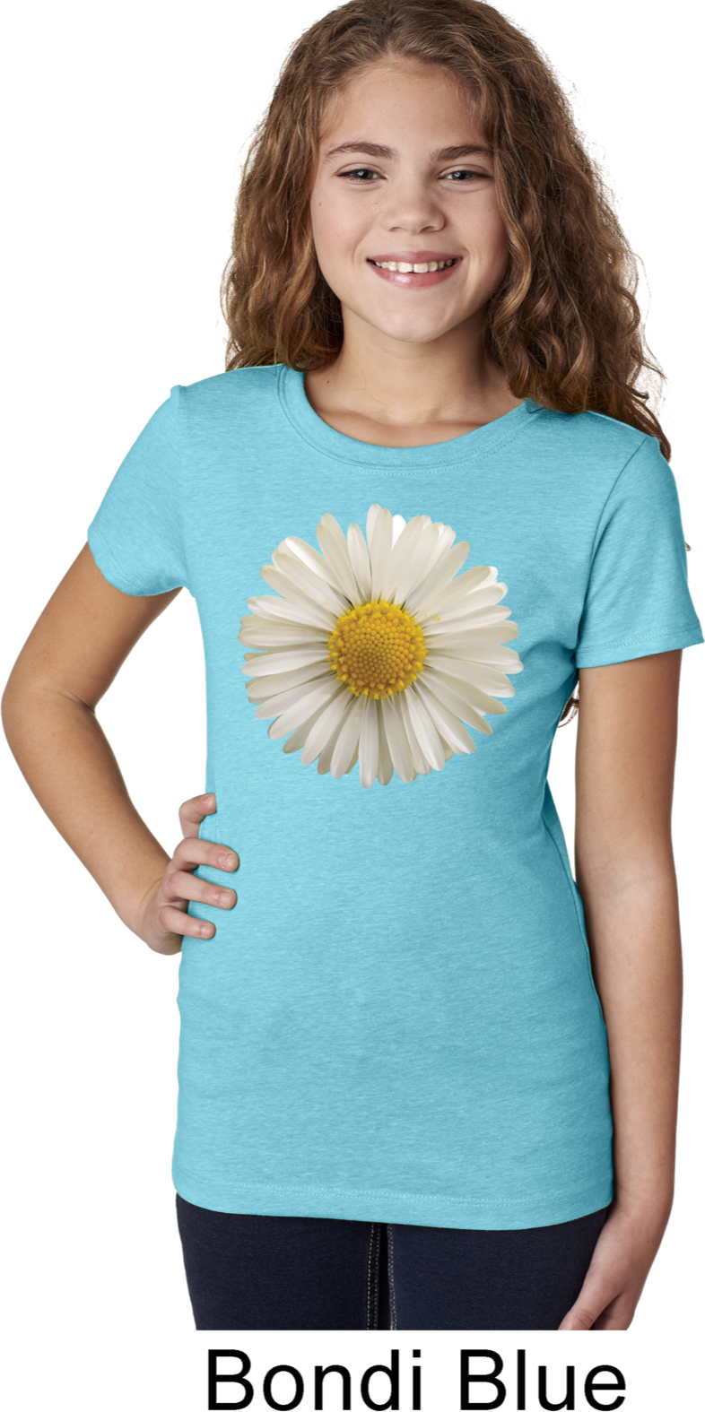 Girls Shirt White Daisy Tee T Shirt White Daisy Kids Shirts