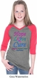 Girls Thyroid Cancer Hope Love Cure V-neck Raglan