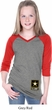 Girls US Army Bottom Print V-neck Raglan