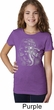Girls Yoga Shirt 3D Ganesha Darks Tee T-Shirt