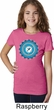 Girls Yoga Shirt Blue Vishuddha Tee T-Shirt