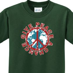 Give Peace a Chance Kids Shirts