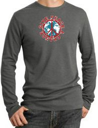 Give Peace A Chance Long Sleeve Thermal T-Shirts