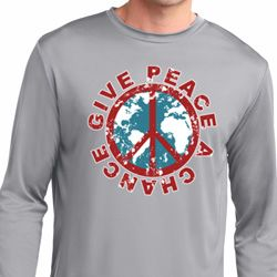 Give Peace A Chance Mens Dry Wicking Long Sleeve Shirt