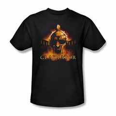 Gladiator Shirt My Name Is Adult Black Tee T-Shirt