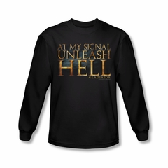 Gladiator Shirt Unleash Hell Long Sleeve Black Tee T-Shirt