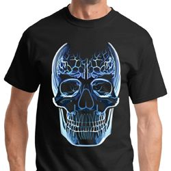 Glass Skull Mens Halloween Shirts