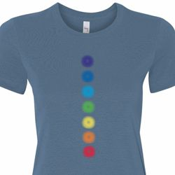Glowing Chakras Ladies Yoga Shirts