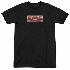 GMC Beat Up 1959 Logo Black Ringer Shirt
