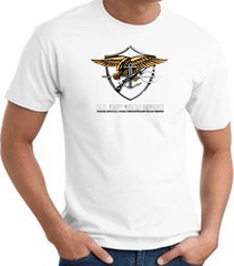 God Bless America US Navy Seal Patriotic Adult T-shirt - White