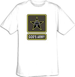 GOD'S ARMY Inspirational Christian Adult T-shirt