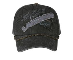 Gothic Style Hat with Chain - Lackpard Patch Cap - Black