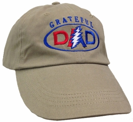 Grateful Dad Adult Hat - Khaki