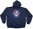 Grateful Dead Hoodie Hooded Sweatshirt Distress Your Face Navy Hoody