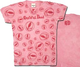 Grateful Dead Juniors T-shirt Lots of Stealies Fitted Girly Tee Shirt