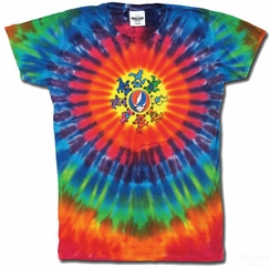 Grateful Dead Juniors T-shirt Tie Dye Circle Bears Tee Shirt