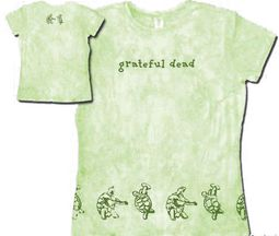 Grateful Dead Juniors T-shirt Turtles Green Fitted Girly Tee Shirt