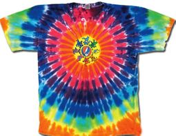 Grateful Dead Kids T-shirt Tie Dye Circle Bears Youth Tee Shirt