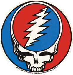 "Grateful Dead Sticker Stealie 4"" X 6"" Sticker"