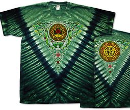 Grateful Dead T-shirt Celtic Knot Green Tie Dye Tee Shirt