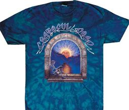 Grateful Dead T-shirt Lute Player Adult Tie Dye Tee