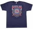 Grateful Dead T-shirt New Years Adult Navy Tee Shirt