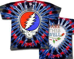 Grateful Dead T-shirt Steal Your Tears Tie Dye Tee Shirt