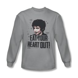 Grease Shirt Eat Your Heart Out Long Sleeve Silver Tee T-Shirt
