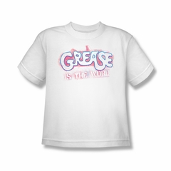 Grease Shirt Kids Grease Is The Word White Youth Tee T-Shirt