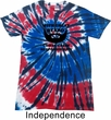 Great Beard Great Responsibility Patriotic Tie Dye Shirt