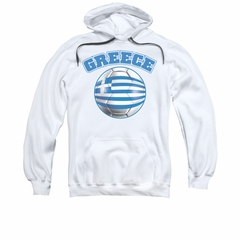 Greece Soccer Futbol Hoodie Sweatshirt White Adult Hoody Sweat Shirt