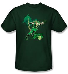 Green Arrow Kids T-shirt - In Action Hunter Green Tee Youth