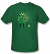 Green Arrow T-shirt - Arrow Target DC Comics Adult Kelly Green Tee