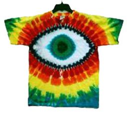 Green Eye Cyclops Tie-Dye T-Shirt - Short Sleeve