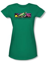 Green Lantern Juniors T-shirt Cosmos Kelly Green Tee