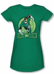 Green Lantern Juniors T-shirt Flying Kelly Green Tee