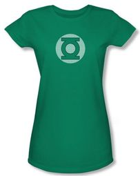 Green Lantern Juniors T-shirt GL Little Logos Kelly Green Tee