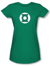 Green Lantern Juniors T-shirt Green Lantern Logo Kelly Green Tee