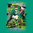 Green Lantern Juniors T-shirt Space Sector 2814 Kelly Green Girly Tee