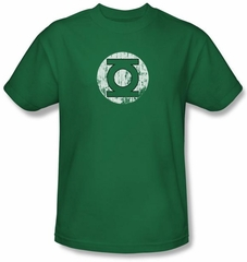 Green Lantern Kids Shirt Distressed Lantern Logo Kelly Green Youth Tee