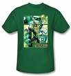 Green Lantern Kids Shirt Panels Justice League Kelly Green Youth Tee