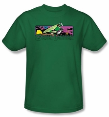 Green Lantern Kids T-shirt Cosmos Youth Kelly Green Tee