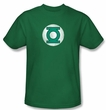 Green Lantern Kids T-shirt Distressed Logo Youth Kelly Green Tee