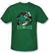 Green Lantern Kids T-shirt In The Spotlight Youth Kelly Green Tee